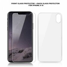 iPhone X XS Screen Protector Front+Back Tempered Glass Bubble Free Anti-Scratch