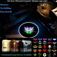 2x Wireless Car Door Projector Shining Transformers Decepticon Logo Shadow Light