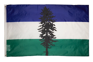 PringCor 3x5 Foot Cascadia Movement Flag 100% Polyester Banner Header Washington
