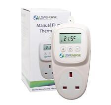 PLUG in TERMOSTATO ELETTRICO Digitale Temperatura Controllore serra HEATER