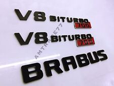 "BRABUS Style ""V8 Biturbo 700"" set of emblems  for Mercedes Benz set"