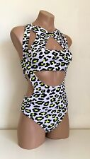 Schminke 🐆 X factor pole wear dance set body-suit leotard leopard print neon