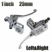Pair 1'' 25mm Universal Motorcycle Brake Master Cylinder Clutch Lever For Harley