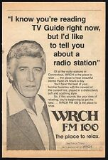 1980 WRCH FM 100 RADIO AD~PATRICK O'NEAL~CONNECTICUT STATION~STERIO MUSIC
