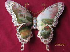 "Thomas Kinkade Bradford Exchange On Wings of Beauty Butterfly ""Morning Dogwood"""
