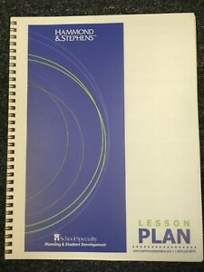 School Specialty Hammond & Stephens Lesson Plan Book, 7 Period / Subject, 40 Wks