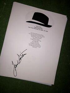 Frank Sinatra Signed setlist reproduction