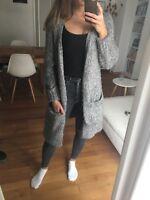 Zara Mantel Grobstrick Grau S