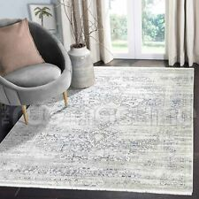 Salcombe Star Medallion Distressed Grey Blue Transitional Rug - 4 Sizes **NEW**
