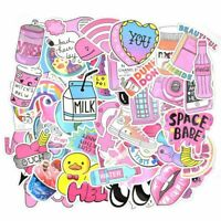 50 Cute Stickers Pink Girl Waterproof Stickers for Hydro Flask Laptop Suitcase