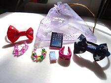 Littlest Pet Shop Accessories Tablet Phone 2 Necklaces  2 Bows Collar No LPS