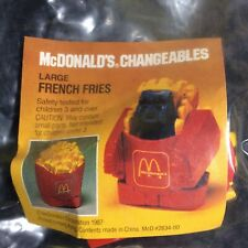 Vintage McDonalds Changeables Robot Fries New 1987