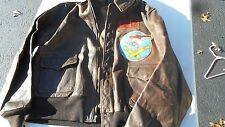 WW2 A-2 Original Leather Flight Jacket Rare Patch 587th Bombardment Squadron