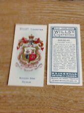 Ciigarette Card Wills No 81 Douglas Borough Arms Isle Of Man M4825