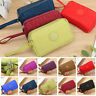 New Women Lady Zip Canvas Clutch Coin Phone Card Holder Bag Long Purse Wallet US