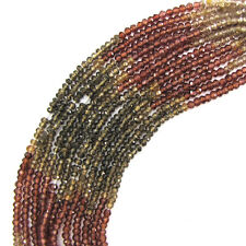 "2.5mm faceted watermelon tourmaline rondelle beads 14.75"" strand"
