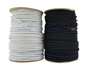 Black & White 4 mm diameter round elastic cord 2,3,4,5,10 metre lengths