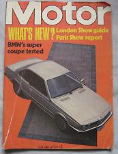 Motor magazine 16/10/1976 featuring BMW 633CSi road test