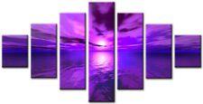 Flurry Viola 160x90cm GRANDE wall art canvas print OPERA D'ARTE CASA SALOTTO