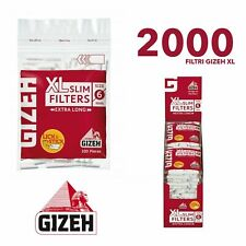 2000 FILTRI GIZEH SLIM 6 mm XL FILTRO DA 2 Cm 1 BOX DA 20 BUSTINE 6mm XL