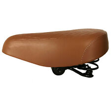 Bicycle Saddle Womens Retro Brown Sprung Quilted Vintage Style Bike Seat 3820B