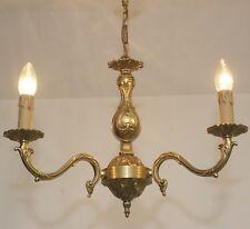style antique Ø46cm Lustre France plafonnier 3fl Laiton laiton LED Lumière