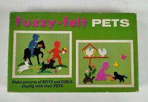 Fuzzy Felt Pets. Vintage 1960's