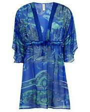 BNWT SWIMSUIT + SILK KAFTAN SET Blue Koh Phangan UK 14 ~16C US 12 ~ 14 C  GOTTEX