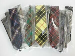 Scottish Tartan Ties - Available in 36 different Acrylic Wool Tartans