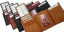 AG Wallets Mens RFID Trifold Wallet Removable Flap Signal Blocking 3 ID 11 Card