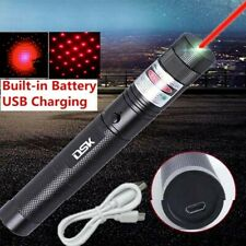 900Miles Red Laser Pointer Pen 650nm Visible Beam Star Cap Lazer Usb Charger