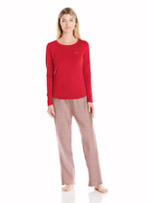 SIZES / COLORS Calvin Klein Knit Top & Flannel Bottoms Pajama Set