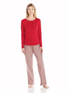 SIZES / COLORS Calvin Klein Knit Top & Flannel Bottoms Pajama Set