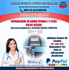 RIPARAZIONE IC AUDIO IPHONE 7 7 PLUS U3101 U3500