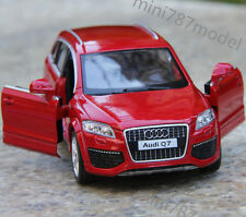 Model Car Audi Q7 1:36 Toy Open two doors Collection&Gift Alloy Diecast Red wine