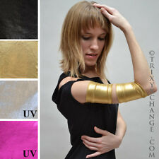 Metallic Arm Bands Gold Gloves Woman Wonder Costume Spandex Nylon Cuffs Diy 1027