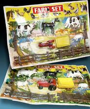 Granja figuras de animales y tractor colgadores corralitos OVP 70er hong kong granja Animals