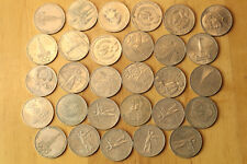 LOT OF 29 pcs 1 ruble rouble COMMEMORATIVE RUSSIAN USSR COINS
