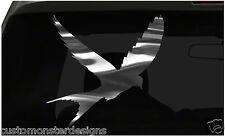 Bird Silhouette Sticker Flying Bird all chrome and regular vinyl colors
