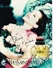 PUBLICITE ADVERTISING 104 1995  YVES SAINT LAURENT PARIS JE T'AIME  parfum femme