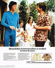 PUBLICITE ADVERTISING 065  1974  HOM  sous vetements les BIJAMAS PYJAMAS