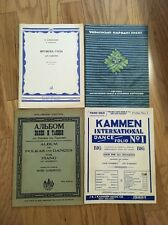 Vintage Lot Of  Piano Sheet Music Books From Europe!  4 Books!