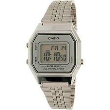 Casio Ladies Mid-Size Silver Tone Digital Retro Watch LA-680WA-7DF Women