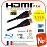 Cable HDMI 1.4V PRO 5m Rond Noir - 3D HIGH SPEED ETHERNET FULL HD 1080p