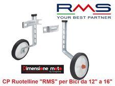 """0010 - Coppia Ruotelline Stabilizzatrici """"RMS"""" per Bici Bimbo 12""""-16"""" Olanda"""