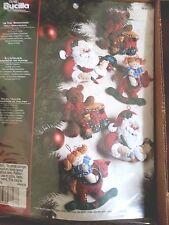Bucilla In The Workshop Felt Ornaments Kit #86167 Santa Toys Christmas