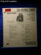 Sony Service Manual SA EX100 / S900 Active Speaker System (#1628)