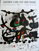 Joan Miro Affiche Originale Lithographie 1971 art Abstrait abstraction lyrique