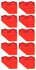 Missing Lego Brick 3665 Red x 10 Slope Brick 45 2 x 1 Inverted