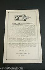 Des Moines, Iowa- Daisy Disk Extension Spool Flyer - Vintage- Des Moines Iron Co